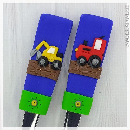 Markoló és traktor